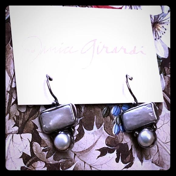 Cultured Rectangular Pearl Earrings